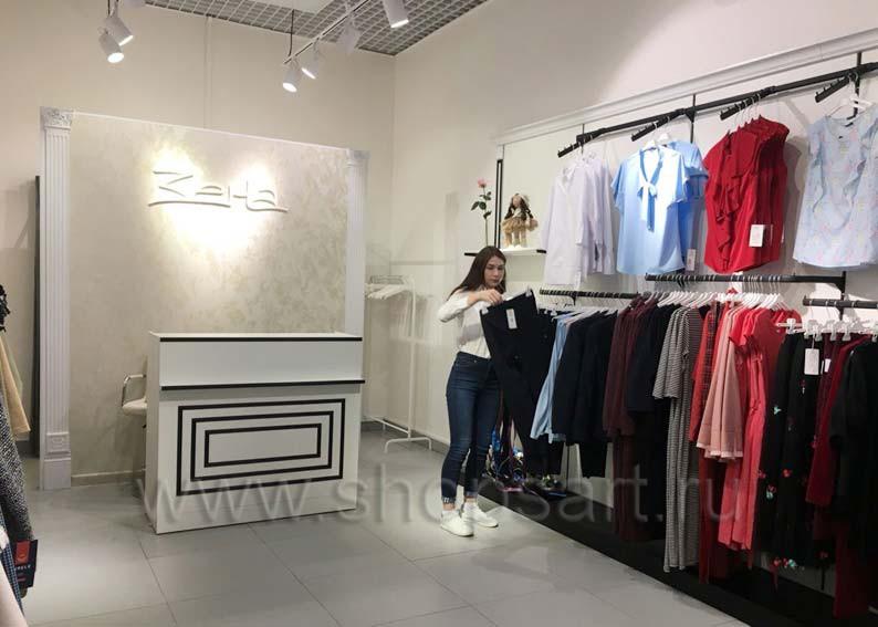 Торговое оборудование для магазина одежды Зена BLACK STAR