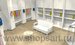 Визуализация магазина одежды на основе коллекции Минимализм