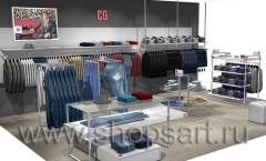 Визуализация магазина мужской одежды CG МИНИМАЛИЗМ