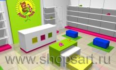 Визуализация детского магазина обуви