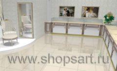 Дизайн интерьера ювелирного магазина Обручальное кольцо коллекция ЭЛИТ ГОЛД Дизайн 2