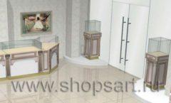 Дизайн интерьера ювелирного магазина Обручальное кольцо коллекция ЭЛИТ ГОЛД Дизайн 3