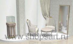 Дизайн интерьера ювелирного магазина Обручальное кольцо коллекция ЭЛИТ ГОЛД Дизайн 4