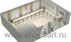 Дизайн интерьера ювелирного магазина Обручальное кольцо коллекция ЭЛИТ ГОЛД Дизайн 5