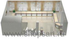 Дизайн интерьера ювелирного магазина Обручальное кольцо коллекция ЭЛИТ ГОЛД Дизайн 7
