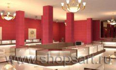 Дизайн интерьера ювелирного магазина Золото Якутии коллекция КОФЕ С МОЛОКОМ Дизайн 1