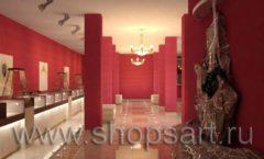 Дизайн интерьера ювелирного магазина Золото Якутии коллекция КОФЕ С МОЛОКОМ Дизайн 3