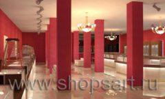 Дизайн интерьера ювелирного магазина Золото Якутии коллекция КОФЕ С МОЛОКОМ Дизайн 4
