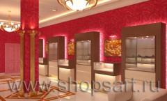 Визуализация VIP зала ювелирного магазина Золото Якутии