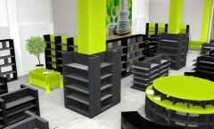 Дизайн интерьера 2 магазина посуды коллекция ДОМИНО