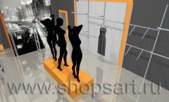 Визуализация магазина женской одежды Дайджест АТЛАНТА