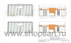 Дизайн-проект магазина детской обуви Пешеходик 16