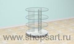 Стол стеклянный на основании 21 век