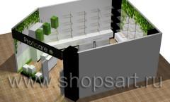 Визуализация магазина косметики на основе коллекции Зелёная