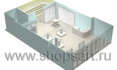 Визуализация магазина посуды на основе коллекции Мебель для посуды
