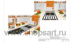 Дизайн-проект магазина детской обуви Пешеходик 22