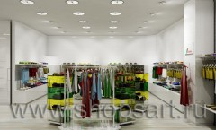 Визуализация детского магазина на основе коллекции 21 век