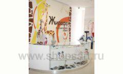 Торговое оборудование БЕЛАЯ КЛАССИКА для детского магазина Жирафа Фото 14