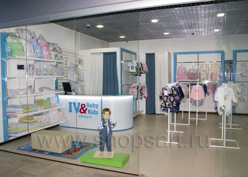 Торговое оборудование для детского магазина Ивбэби ТЦ Улей WHITE STAR Фото