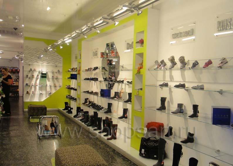 Торговое оборудование для детского магазина Винни обувь Рублевское шоссе СИНИЙ ВЕТЕР