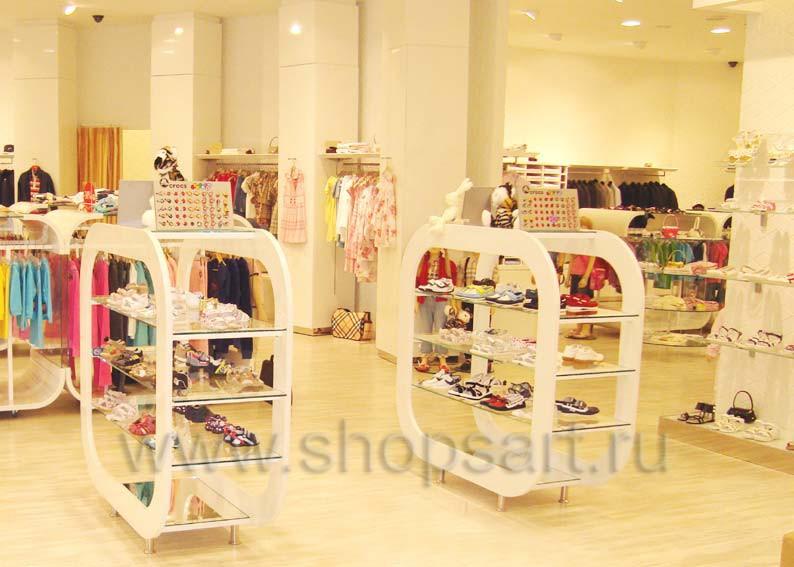 Торговое оборудование для детского магазина Винни обувь ТЦ Dream House 21 ВЕК