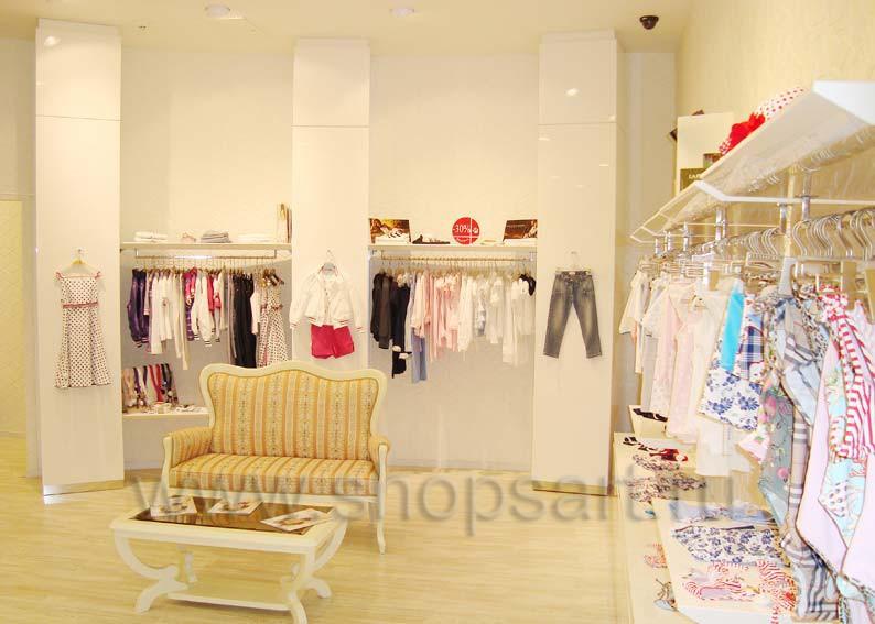 Торговое оборудование для детского магазина Винни одежда ТЦ Dream House 21 ВЕК