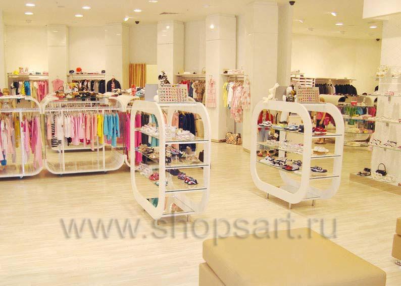 Торговое оборудование для отдела обуви магазина Винни ТЦ Dream House