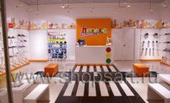 Торговое оборудование КАРАМЕЛЬ для детского магазина обуви Пешеходик Фото 02