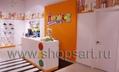 Торговое оборудование КАРАМЕЛЬ для детского магазина обуви Пешеходик Фото 06