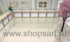 Дизайн интерьера 2 ювелирного магазина Обручальное кольцо коллекция ЭЛИТ ГОЛД Дизайн 2