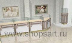 Дизайн интерьера 2 ювелирного магазина Обручальное кольцо коллекция ЭЛИТ ГОЛД Дизайн 5
