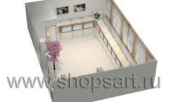 Дизайн интерьера 2 ювелирного магазина Обручальное кольцо коллекция ЭЛИТ ГОЛД Дизайн 6