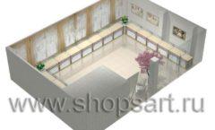 Дизайн интерьера 2 ювелирного магазина Обручальное кольцо коллекция ЭЛИТ ГОЛД Дизайн 7
