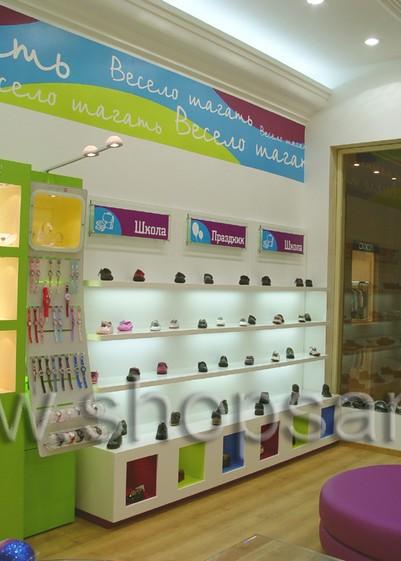 Фотографии открытого детского магазина обуви Весело шагать в г. Санкт-Петербург на основе коллекции КАРАМЕЛЬ