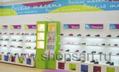 Торговое оборудование КАРАМЕЛЬ для детского магазина обуви Весело шагать Крокус Фото 04