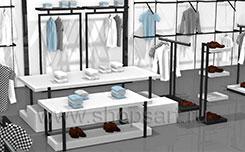 Торговое оборудование для магазинов одежды коллекция BLACK STAR