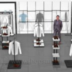 Торговое оборудование BLACK STAR для магазинов одежды