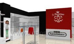 Визуализация детского магазина 3 pommes Сургут 21 ВЕК
