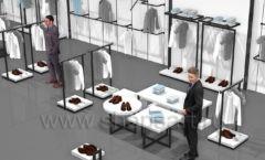 Торговое оборудование для магазина одежды Rus Fashion Park BLACK STAR