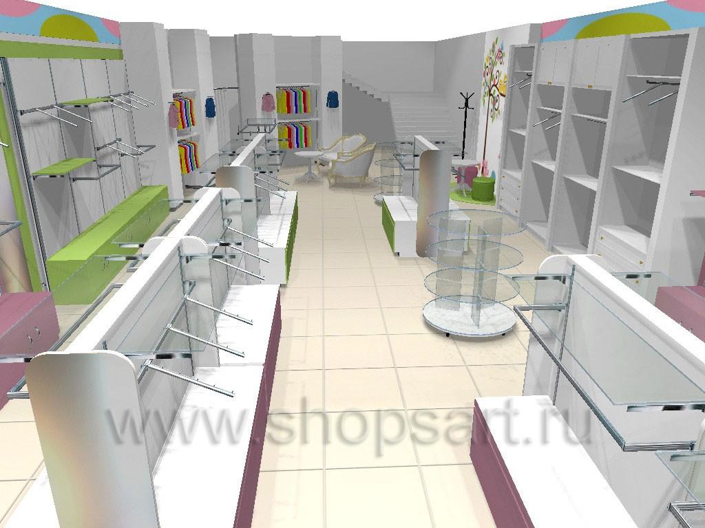 Торговое оборудование АКВАРЕЛИ для детских магазинов