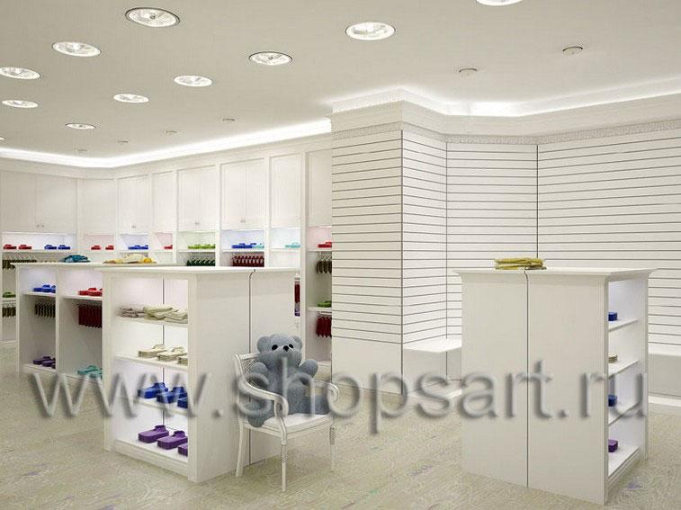 Торговое оборудование БЕЛАЯ КЛАССИКА для магазинов одежды