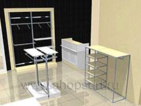 Торговое оборудование для магазинов одежды ХАЙ ТЕК