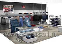 Торговое оборудование для магазинов одежды МИНИМАЛИЗМ