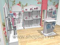Торговое оборудование для магазинов одежды ПРЕМИУМ