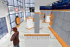 Торговое оборудование для магазинов спортивной одежды АТЛАНТА