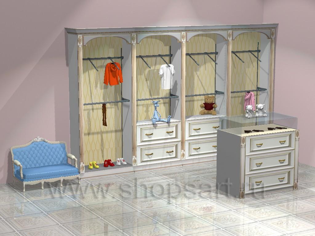 Торговое оборудование ЭЛИТ ГОЛД для детских магазинов