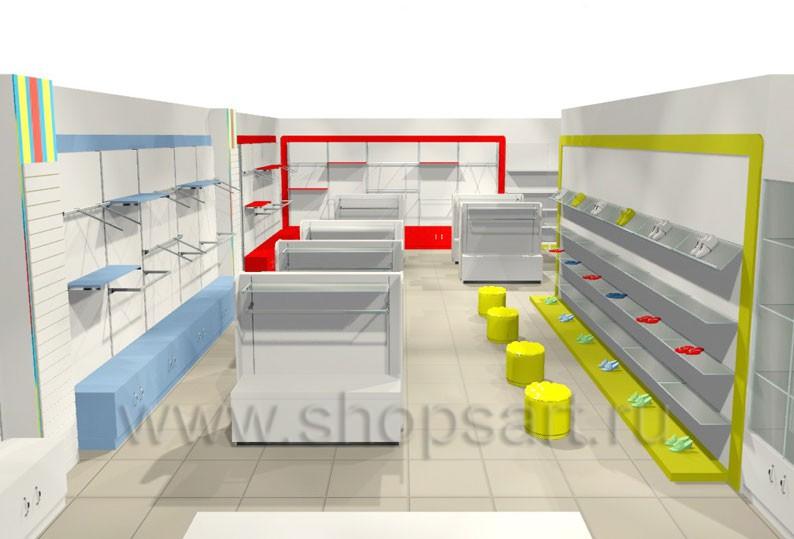 Торговое оборудование ГОЛУБАЯ ЛАГУНА для детских магазинов