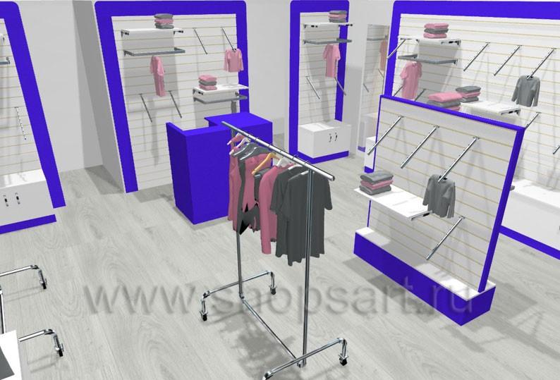 Торговое оборудование ГОЛУБАЯ ЛАГУНА для магазинов одежды