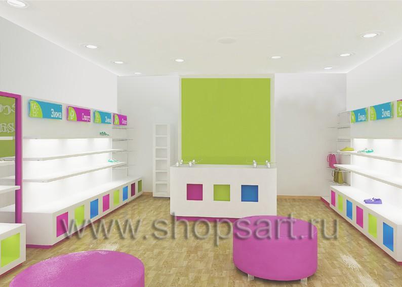 Торговое оборудование коллекции КАРАМЕЛЬ для детских магазинов