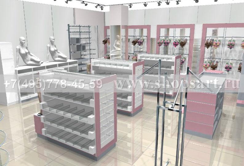 Торговое оборудование ЛАСКАНА для магазинов нижнего белья